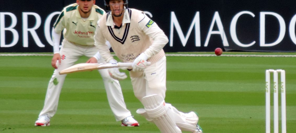 A county batsman in action
