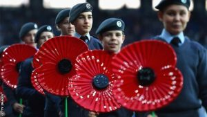 poppies at the football