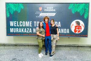 David Luiz and his family enjoyed their trip to Rwanda
