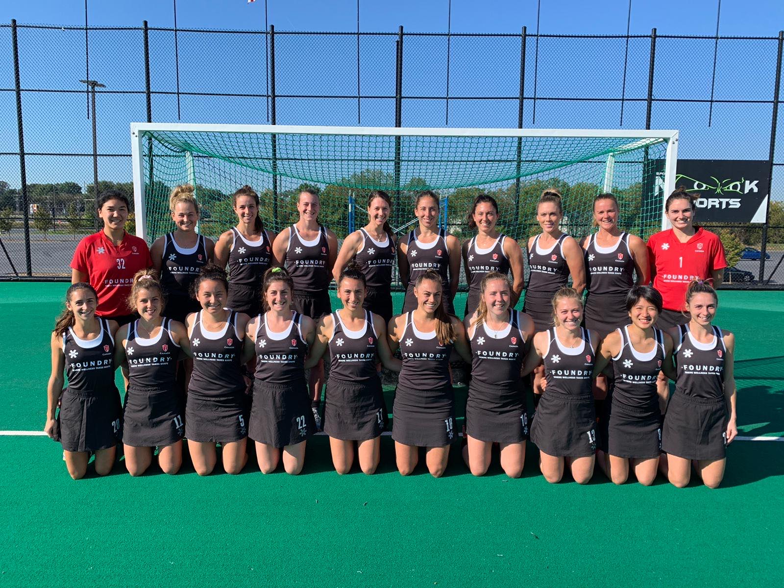 Team Canada. Photo Credit: courtesy of Team Canada women's field hockey team