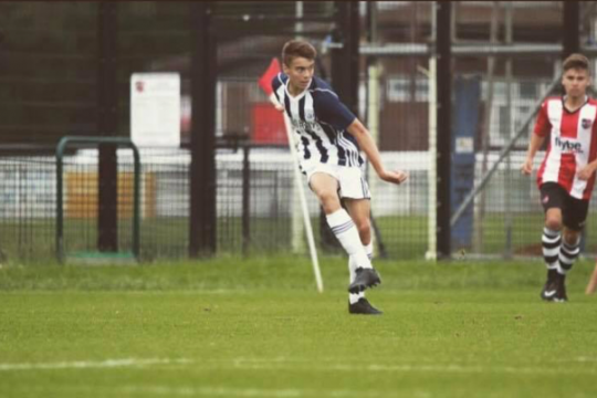 Sharpe in action (Credit West Bromwich Albion Football Club)