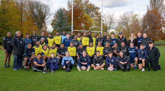 Fijian Rugby Team and Crew