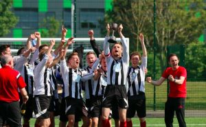 McClean celebrates with St Margarets / Photo courtesy of Greg McClean
