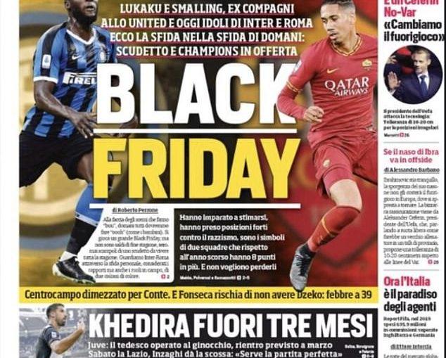 Corriere dello Sport front page.
