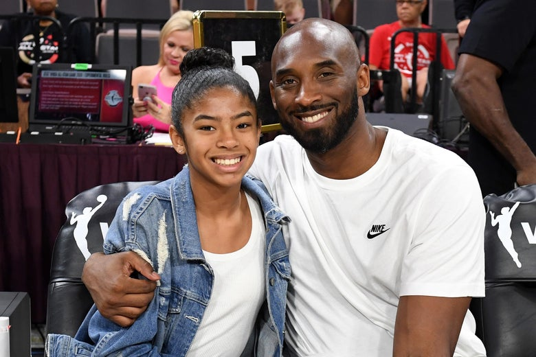 Gigi Bryant and her father, Kobe, at the WNBA All-Star Game on July 27, 2019 Photo: Ethan Miller/Getty Images