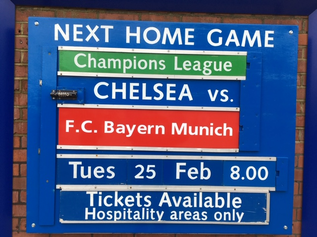 Chelsea hosted Bayern at the Bridge