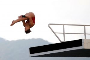 Toth has been diving for Canada since 2008. Photo provided by Celina Toth.