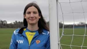 Natalie Washington transitioned in her twenties and plays for Rushmoor FC. Photo/Dan Vo