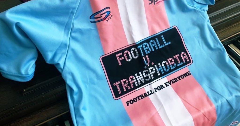 Football v. Transphobia Jersey. Photo/OutSports