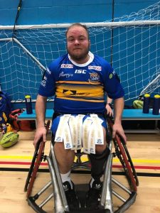 Verity Smith plays for the Leeds Rhinos in wheelchair rugby league. Photo courtesy of Verity Smith.