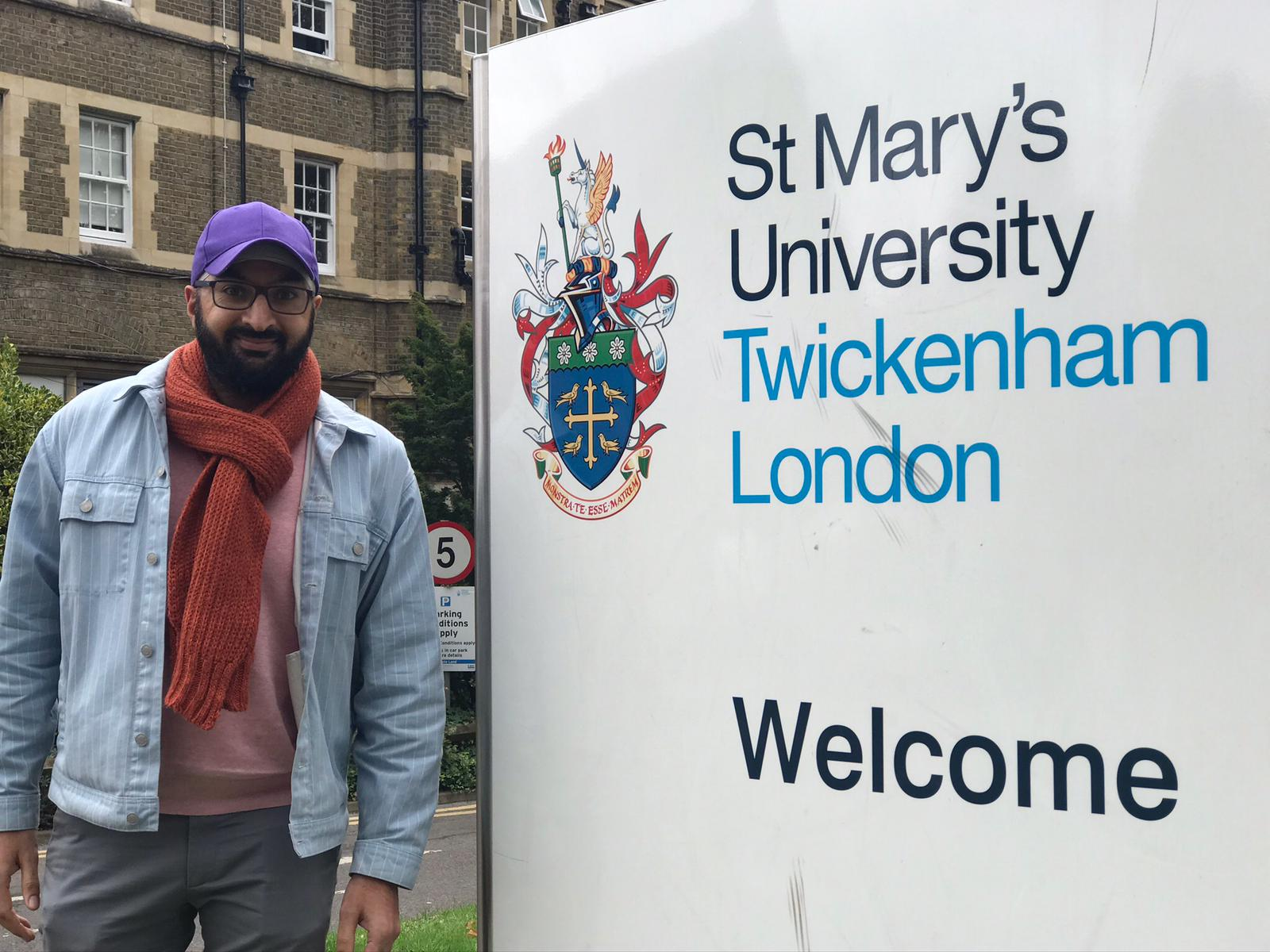 Monty Panesar at St Mary's University campus