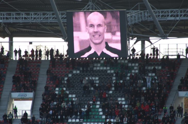 A memorial for Robert Enke at Hannover's AWD-Arena