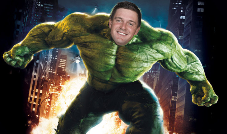 The Incredible Bryson...Dr Bruce DeChambeau...Bryson DeChambeau's head on the Incredible Hulk's body, you get the idea.