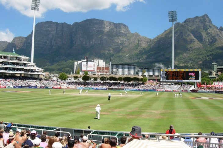 Newlands cricket ground in Cape Town, South Africa, looking towards Table Mountain