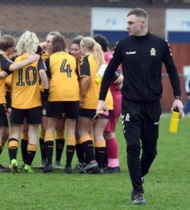 Women's side in FA Cup action