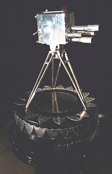 The SpoTY trophy - a silver four-turret lens camera