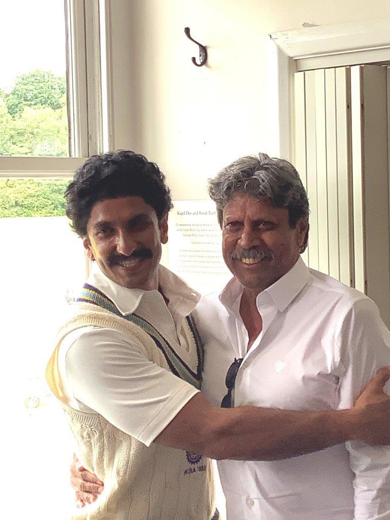 Ranveer Singh and Kapil Dev at Tunbridge Wells