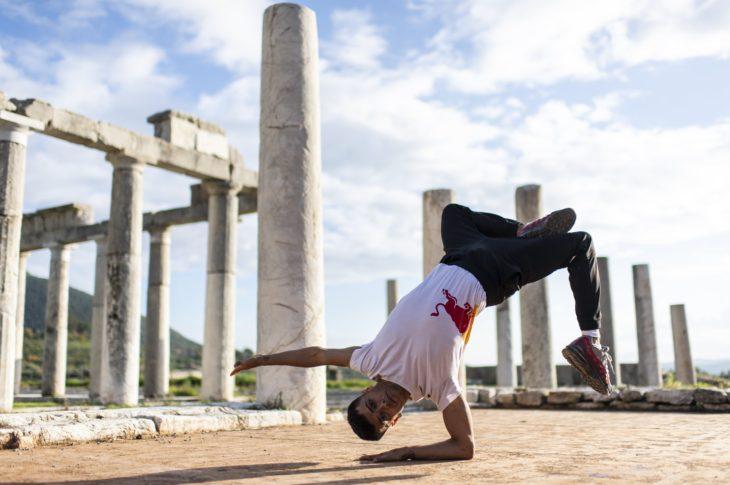 Breaking athlete, or B-Boy, Sunni