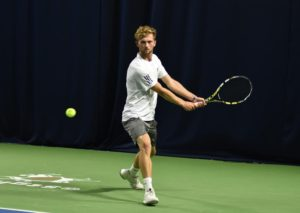Tom Hands playing tennis. Photo courtesy of Tom Hands.
