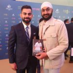 Indian captain Virat Kohli with the author