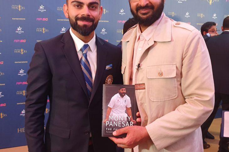 Indian captain Virat Kohli with the author