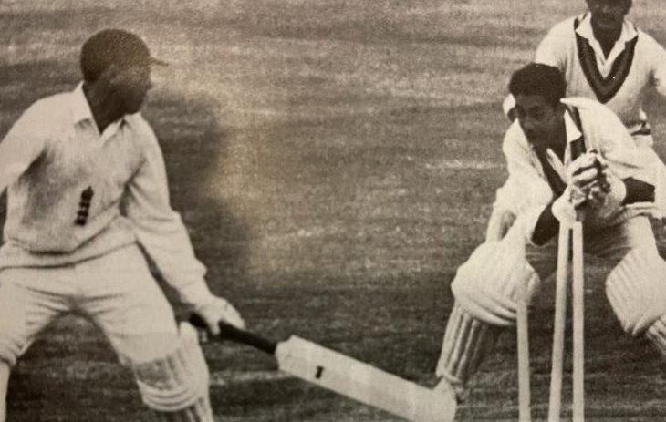 Farokh Engineer Wicket-keeping on display to stump Sir Geoff Boycott