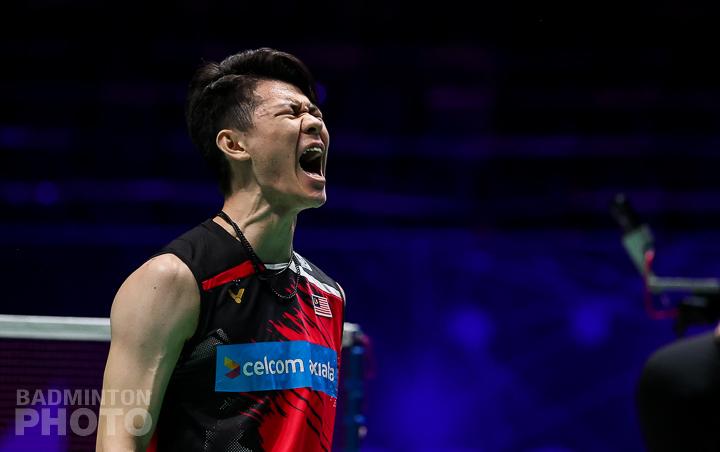 Lee Zii Jia celebrates All England win 2021