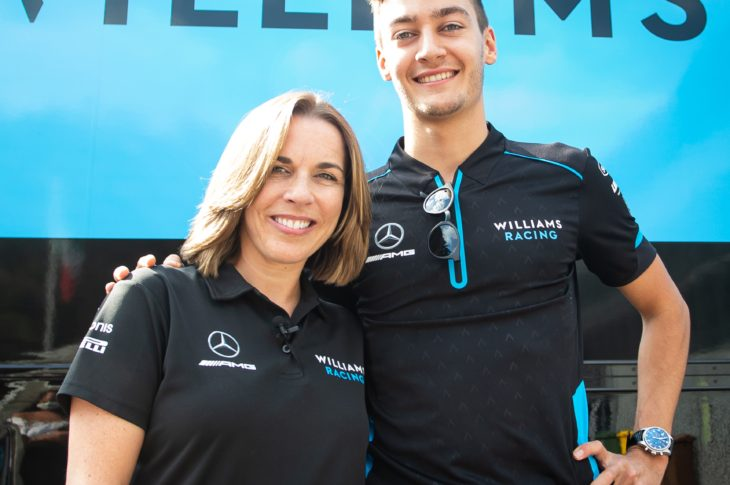 Claire Williams and George Russell
