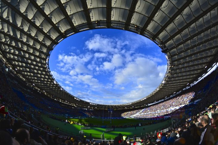 """""""Rugby in Olimpico Stadium, Rome [EXPLORE]"""" by Antonio Cinotti (Licensed by Creative Commons)"""